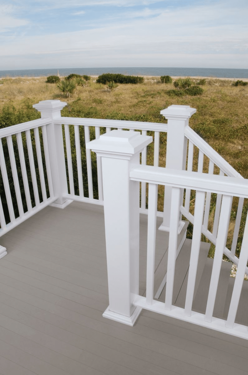 Composite railing lakeside lumber the northwest 39 s for Composite decking and railing